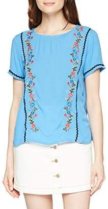 Tom Tailor Women's Fabric Mix Embro T-Shirt