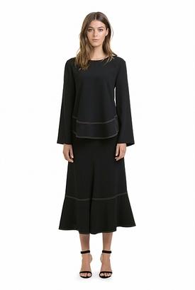 Profile Stitch Midi Skirt