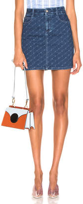 Stella McCartney Logo Mini Skirt in Dark Classic Blue | FWRD