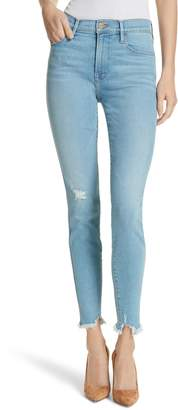 Frame Le Skinny de Jeanne High Waist Raw Hem Jeans