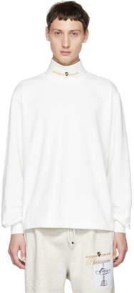Alexander Wang White Jersey Turtleneck Sweater