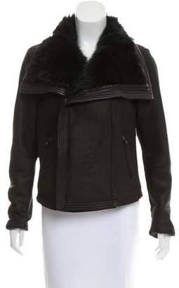 Vince Shearling Moto Jacket