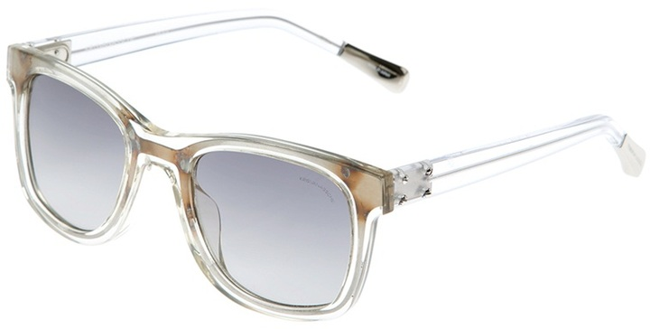 Linda Farrow By Kris Van Assche clear sunglasses