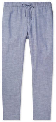 Frescobol Carioca Mélange Linen And Cotton-Blend Drawstring Trousers