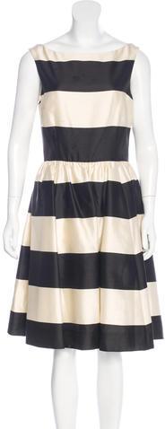 Kate SpadeKate Spade New York Striped A-Line Dress