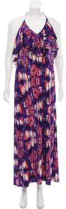Ali Ro Printed Halter Dress