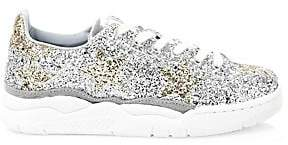 Chiara Ferragni Women's Glitter Leather Sneakers