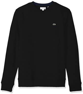 Lacoste Men's Fleece Sweatshirt with Green Croc-Contrast Details