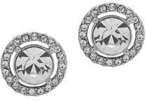 Givenchy Silvertone and Crystal Stud Earrings