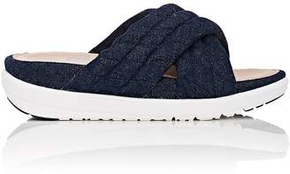 FitFlop LIMITED EDITION Women's Quilted Denim Slide Sandals