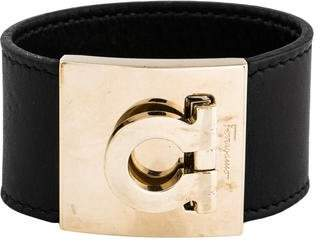 Pre Owned At Therealreal Salvatore Ferragamo Wide Gancio Cuff