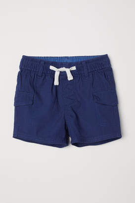 H&M Cotton Cargo Shorts - Blue