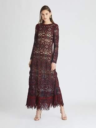 Oscar de la Renta Birdsnest Knit Dress