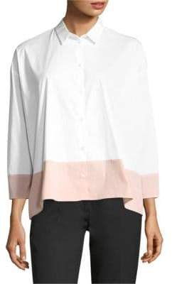 Piazza Sempione Contrast Hem Button-Down Shirt
