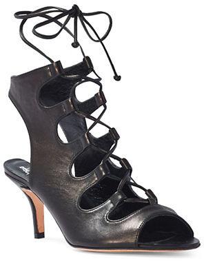 Delman Tanna Crisscross Sandals $448 thestylecure.com
