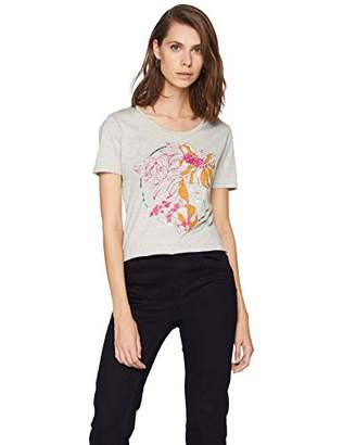 BOSS Women's Telaronde T-Shirt, (White 100), Large