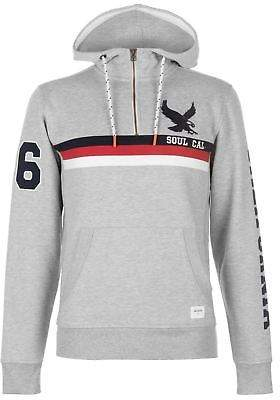 Soul Cal SoulCal Mens Cal ChstPnel Swt S83 Quarter Zip Sweater Jumper Pullover