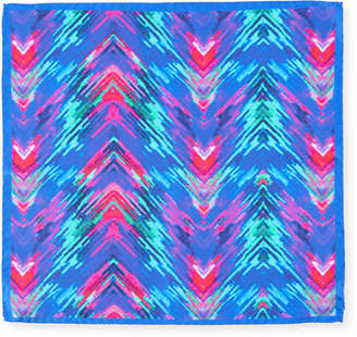 Bugatchi Electric Tie-Dye Silk Pocket Square