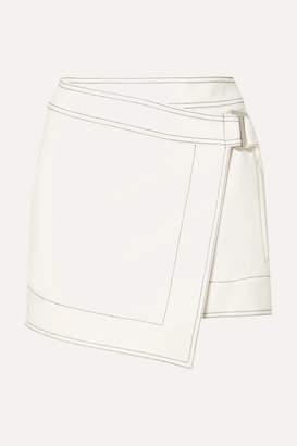 630801d038 Dion Lee Asymmetric Crepe Mini Wrap Skirt - Ivory