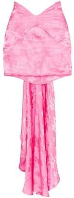 ATTICO jacquard tail detail mini skirt