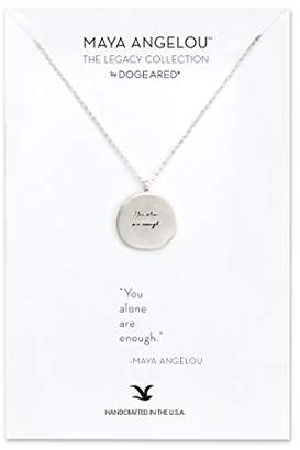 Dogeared Women's 925 Sterling Silver Maya Angelou Collection Nothing Can Dim The Light Quote Pendant Necklace of Length 45.72cm