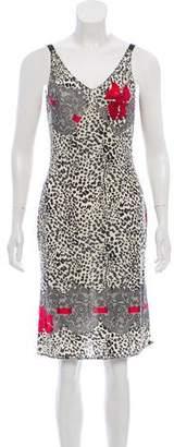 Blumarine Animal Print Sleeveless Dress