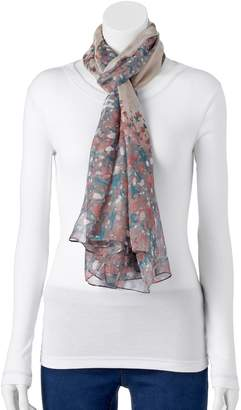 Lauren Conrad Floral Border Oversized Oblong Scarf