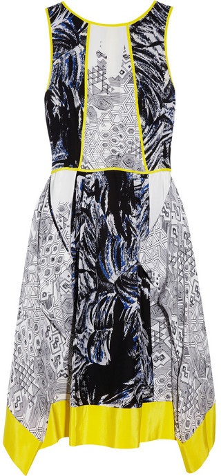 Tibi Printed crepe dress
