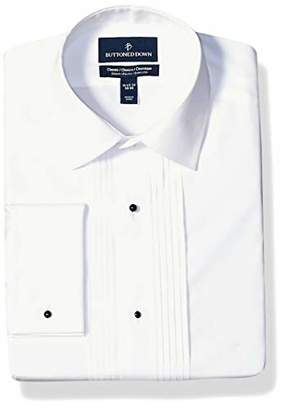 Buttoned Down Amazon Brand Men's Classic Fit Easy Care Bib-Front Spread-Collar Tuxedo Shirt
