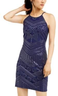 Jump Juniors' Allover-Studded Dress