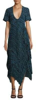 A.L.C. Kylia Plissé Silk Dress