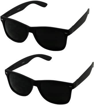 0c572cff4b Basik Eyewear - Super Dark Retro Classic 80 s Casual UV400 Sunglasses (Soft  2-Pack