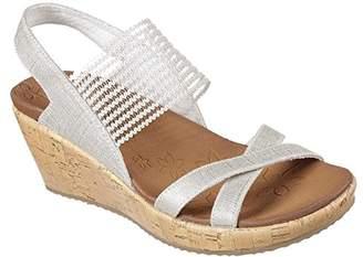 Skechers Cali Women's Beverlee-High Tea Wedge Sandal