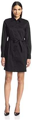 Society New York Women's Belted Shirtdress