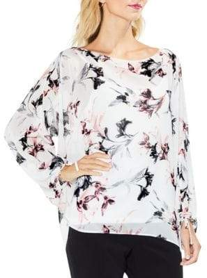 Vince Camuto Lily Melody Bubble-Sleeve Tie Cuff Blouse