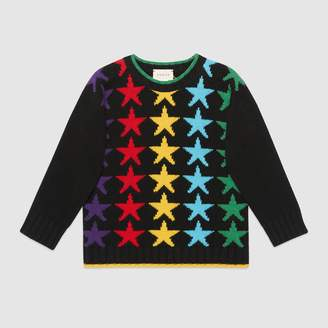 Gucci Children's star wool sweater