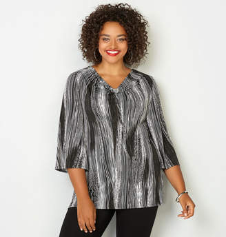 Avenue Brushstroke Cowl Neck Tunic