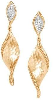 John Hardy 14K Gold Diamond Drop Earrings