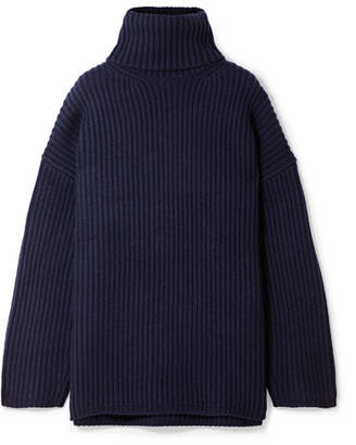 Acne Studios Oversized Wool Turtleneck Sweater - Navy