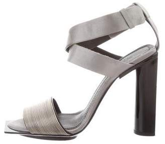 Calvin Klein Collection Satin Ankle Strap Sandals