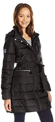 U.S. Polo Assn. Junior's Long Self-Belt Puffer Coat