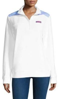 Seersucker Shoulder Sweatshirt