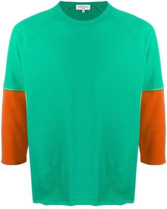 YMC contrast sleeve sweatshirt