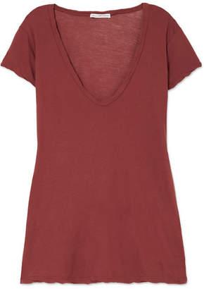 James Perse Slub Cotton-jersey T-shirt - Brick