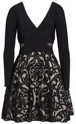 Xscape Evenings Embroidered Jersey Party Dress
