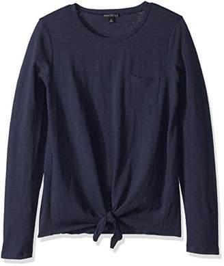 J.Crew Mercantile Women's Long-Sleeve Tie Waist T-Shirt,XXL