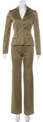 Philosophy di Alberta Ferretti Stripe Print Pant Suit