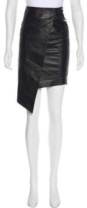 Thomas Wylde Asymmetrical Leather Skirt Black Asymmetrical Leather Skirt