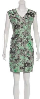 Lela Rose Abstract Patterned Mini Dress