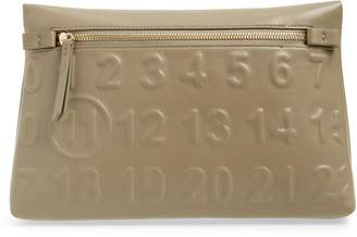 Maison Margiela Embossed Logo Leather Clutch